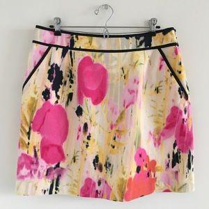 🆕 Anthro Tabitha Rain Poppy Mini Skirt Size 12